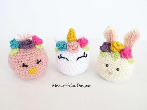 Crochet Easter Basket Stuffed Toys - Free Crochet Patterns