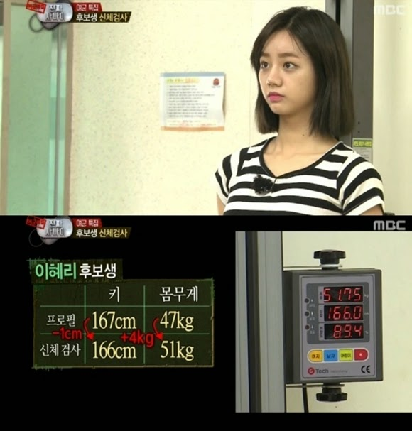 Girl's day Hyeri's actual height and weight revealed in 'Real Men