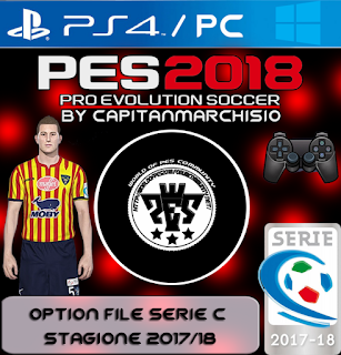 PES 2018 PS4 / PC Option File Serie C Season 2017/2018