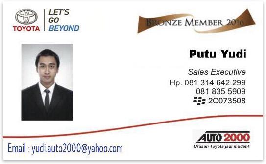 Rekomendasi Sales Toyota Auto 2000 Denpasar Selatan, Bali