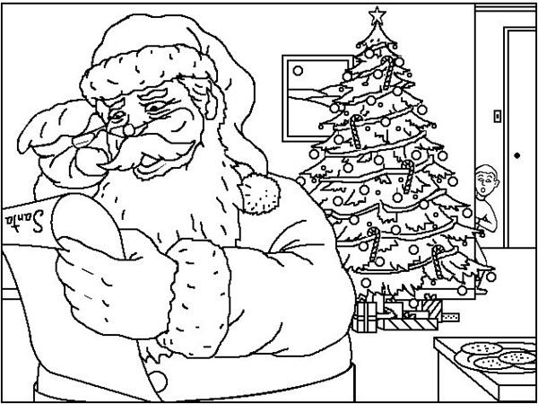 Papa Noel Para Pintar Y Colorear Colorear Tus Dibujos
