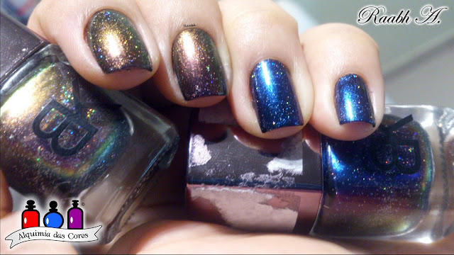 Esmalte multichrome, Esmaltes BK, BK 06, BK 08, Starrilly Chromeo and Julliet, Starrilly Death Wish, BP- L 078, Unhas carimbadas, Raabh A.