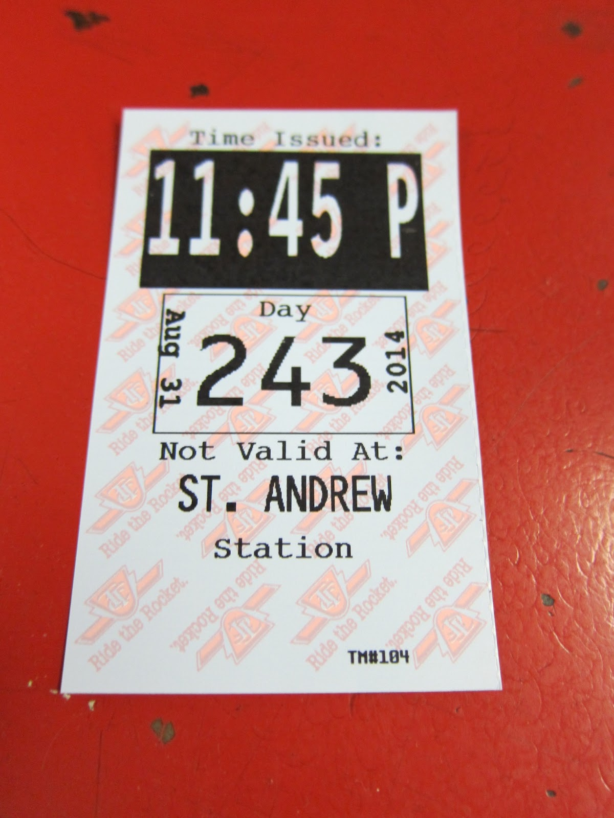 transfer from St. Andrew subway station