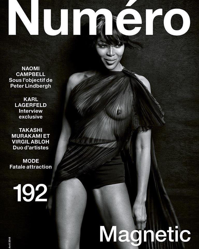 Naomi Campbell covers Numéro #192 April 2018