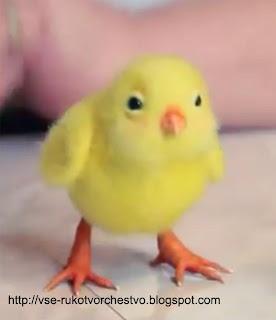 Видео мастер-класс по валянию цыпленка