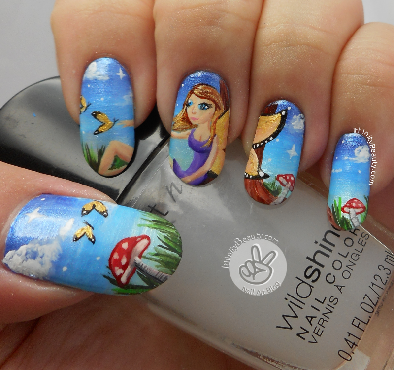 The Butterfly Fairy - Freehand Nail Art | IthinityBeauty.com Nail ...