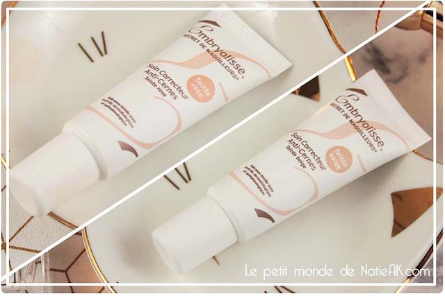 maquillage cernes et soin poche de embryolisse teinte beige et rose