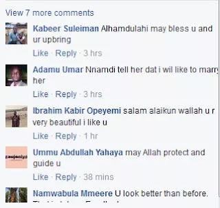 Igbo girl converts to Islam, people react on Facebook