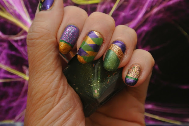 Mardi Gras Nail Art Ideas