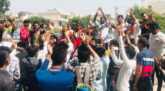 Student-Rights Rally of Yuva Aagaj Aging Organization