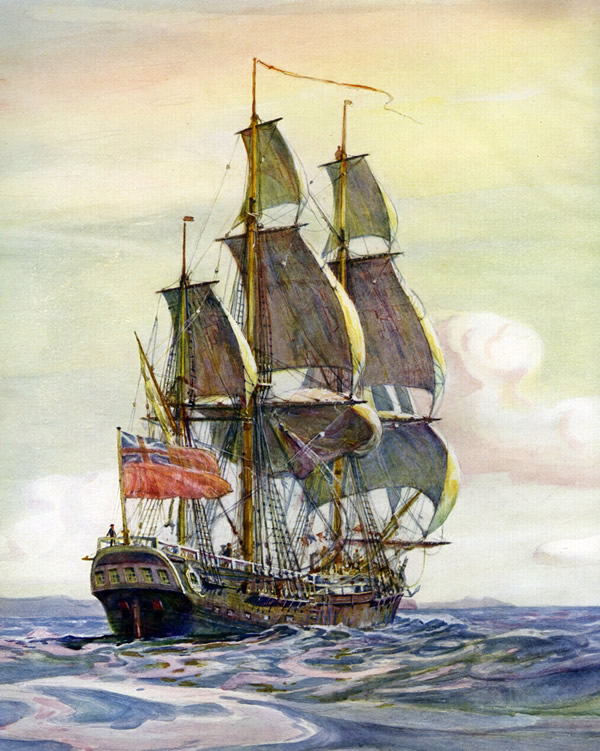 Captain James Cook ship, HMS Endeavour