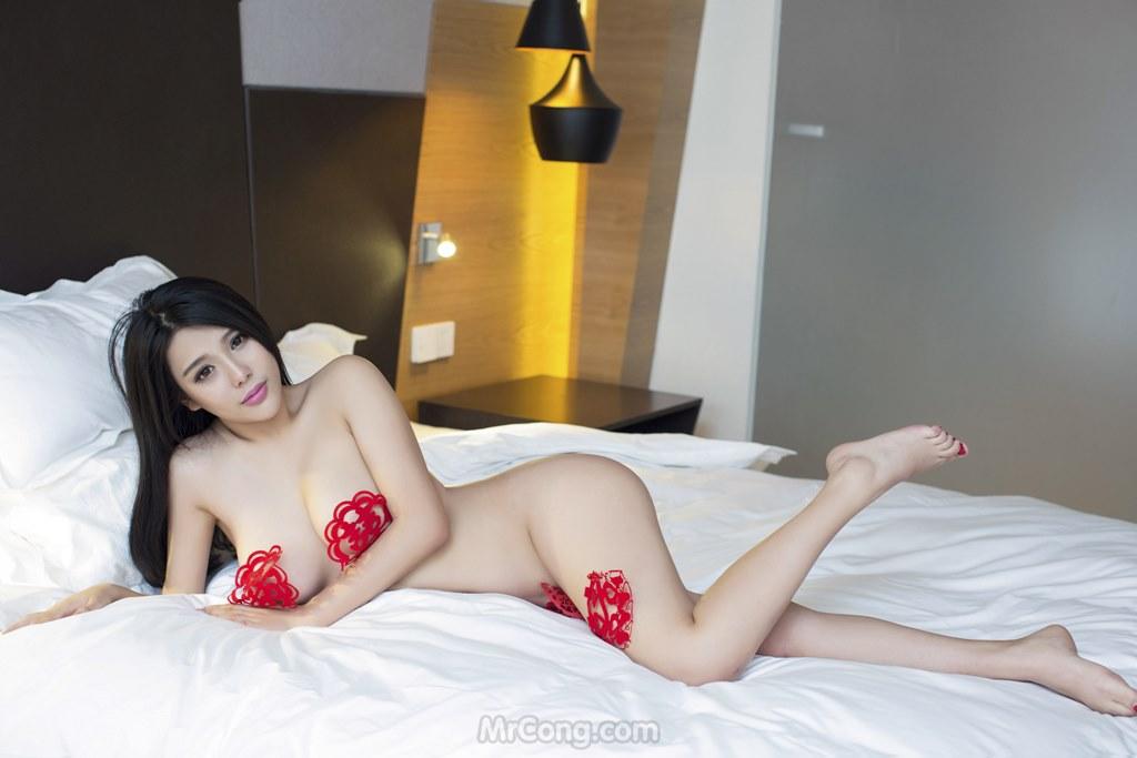 Image MrCong.com-UGIRLS-T009-nguoi-mau-trung-quoc-khoa-than-017 in post Ba người đẹp Trung Quốc khoe thân táo bạo trong bộ ảnh UGIRLS T009
