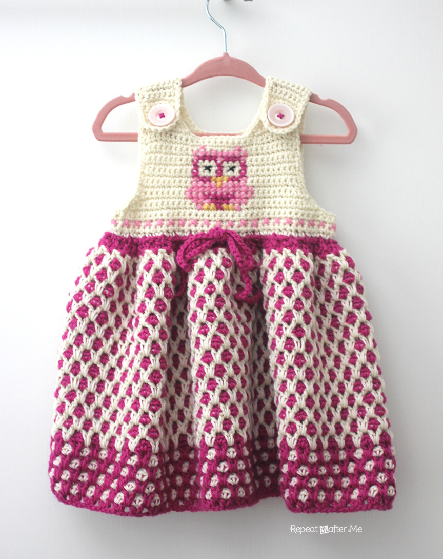 Yarnspirations 2015 Baby Lookbook: Crochet Garden Lattice Jumper ...
