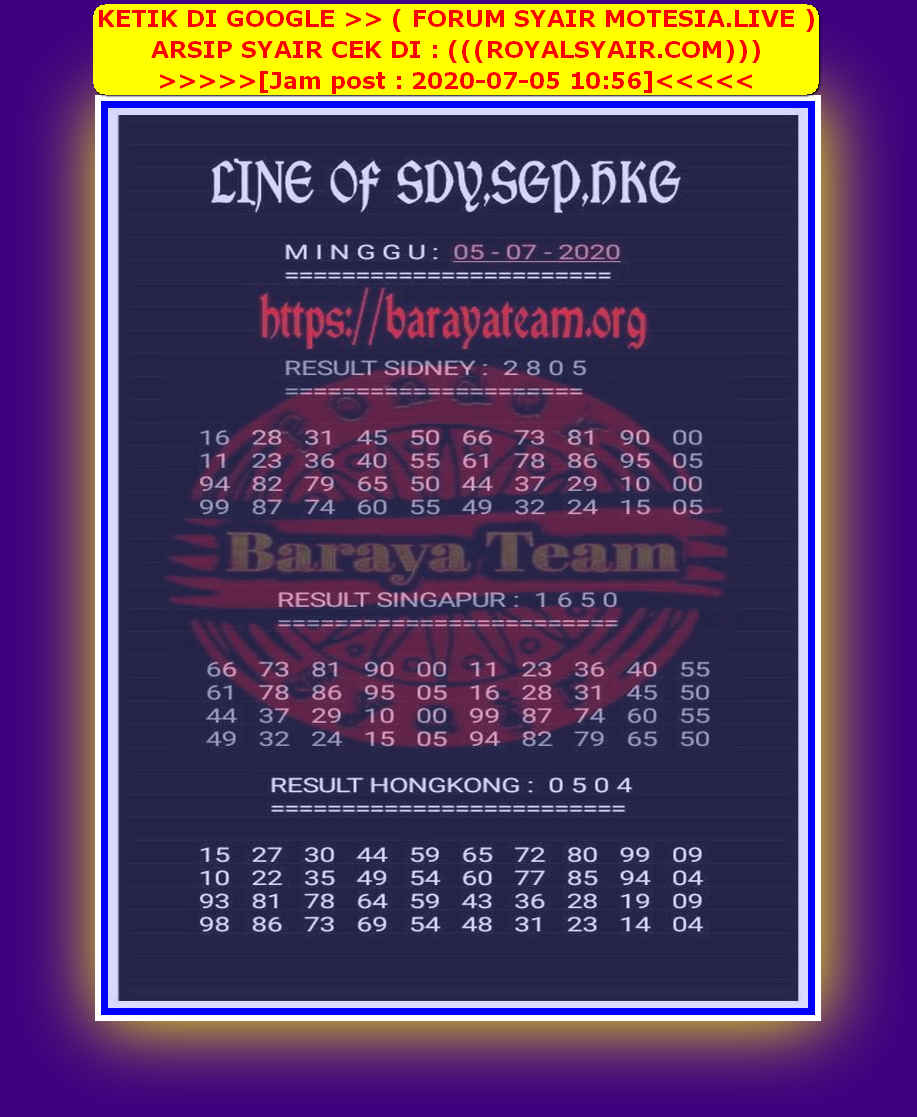 Kode syair Singapore Minggu 5 Juli 2020 68
