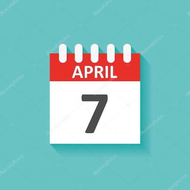 7 de Abril- O dia de hoje na história: fatos e acontecimentos em Elesbão Veloso.