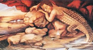 el hombre caiman mito colombiano