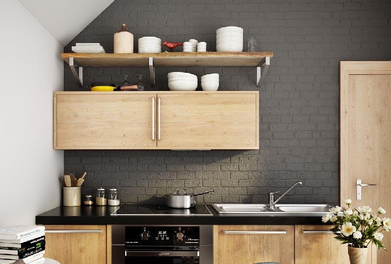 Per la cucina pareti di mattoni a vista dettagli home decor - Mattoni per cucina ...