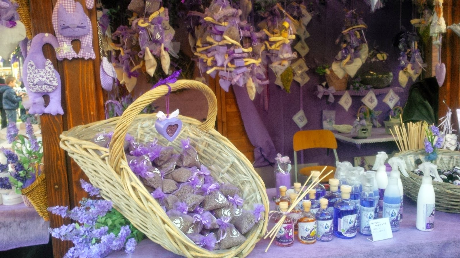 Lavender stall at the Christmas market in Asiago