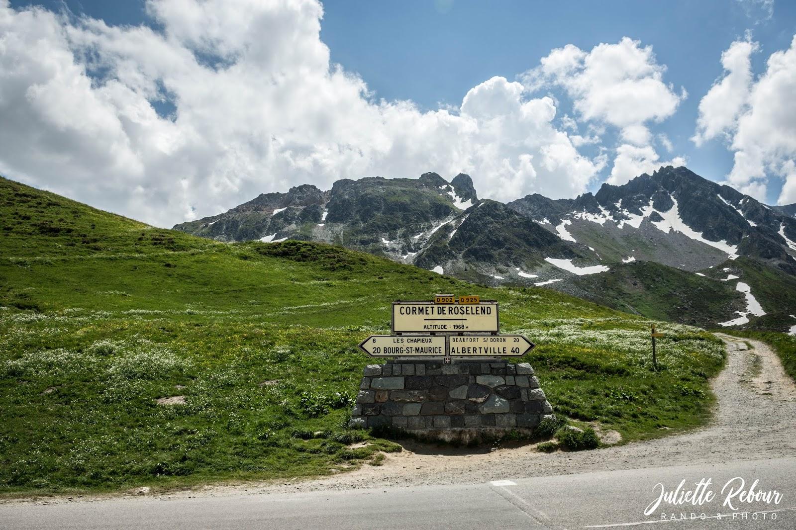 Cormet de Roselend en Savoie