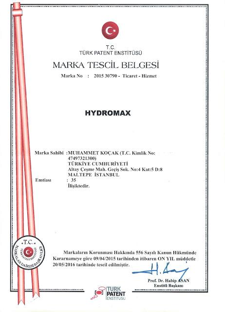 Hydromax Türkiye yasal satış merkezi, marka güvencesiyle.