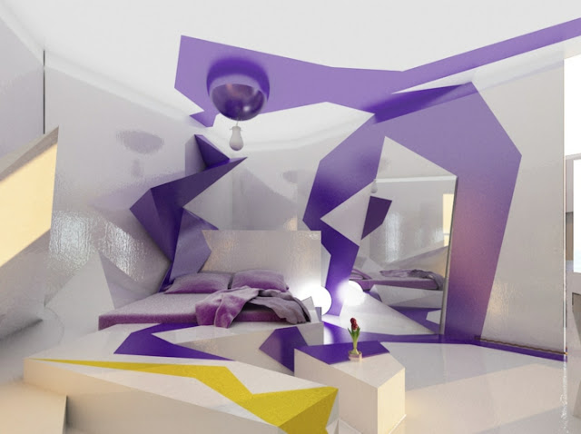 3d bedroom design ideas with 3d wall art