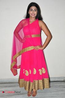 Actress Raj Shri Poonnappa Stills in Pink Dress at Mental Police Trailer Launch  0044.JPG