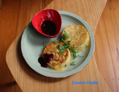 Carole's Chatter: Crispy Noodle Cakes with Chilli Sauce