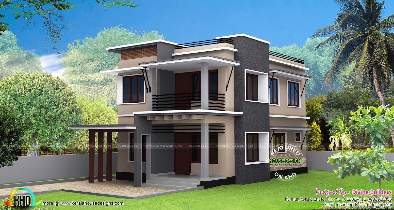 30 lakhs rupees cost estimated modern house kerala home for Modern house cost