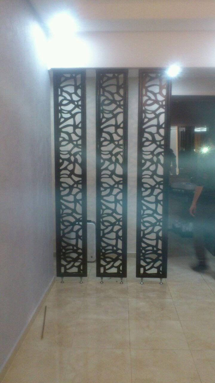 s paration en bois mdf motif maya 3 pi ce sigma d coration. Black Bedroom Furniture Sets. Home Design Ideas