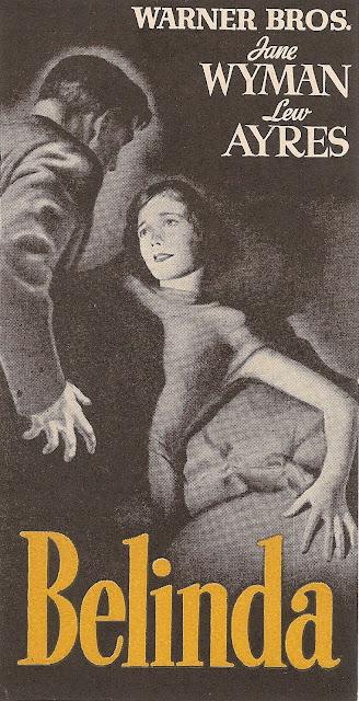 Folleto de mano - Belinda - Jane Wyman - Lew Ayres