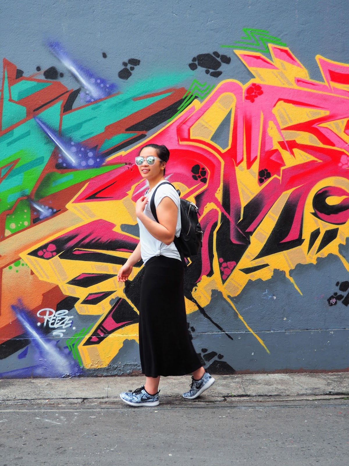 Malaysia Kota Kinabalu Graffiti Sreet art maxi dress Gaya Street