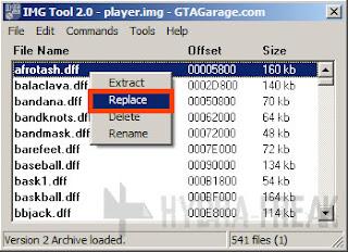 Cara mengganti berkas dengan IMG Tool 2.0