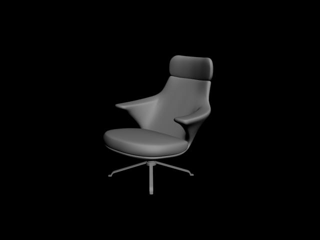 Ofis Sandalyesi 3D Model