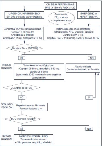 Tratamiento de pautas de emergencia hipertensivas