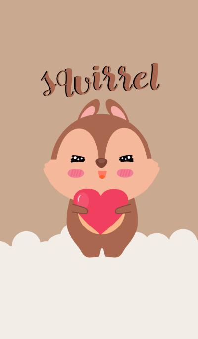 Simple Cute squirrel