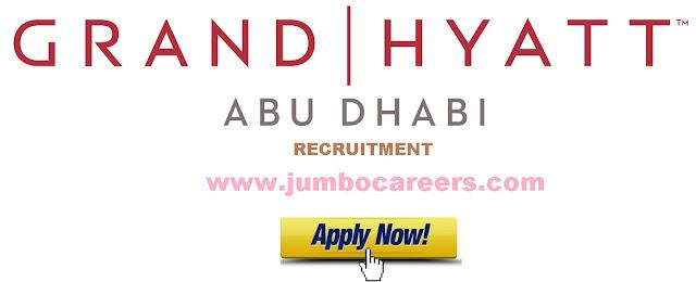 5 star hotel jobs in abu dhabi, latest 5 star hotel vacancies in uae, hyatt job uae