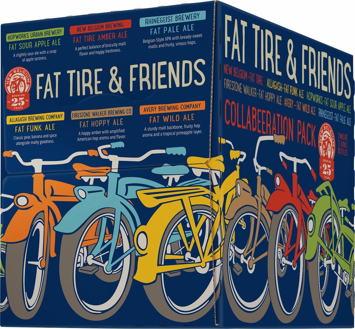 Freshpints Com New Belgium S Fat Tire Friends Collabeeration Pack