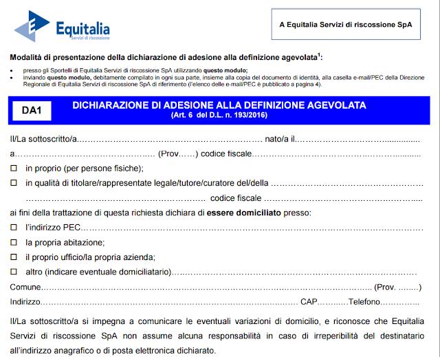 Rottamazione cartelle Equitalia, costi, istruzioni, scarica il Modulo da compilare