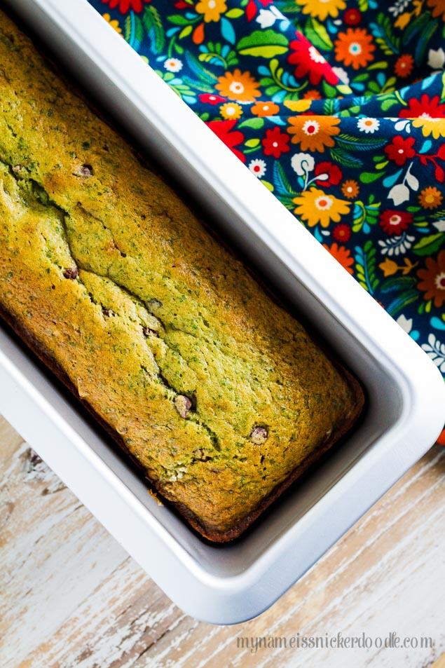 Spinach Banana Bread!  With or without chocolate chips it's a really great recipe!  |  mynameissnickerdoodle.com