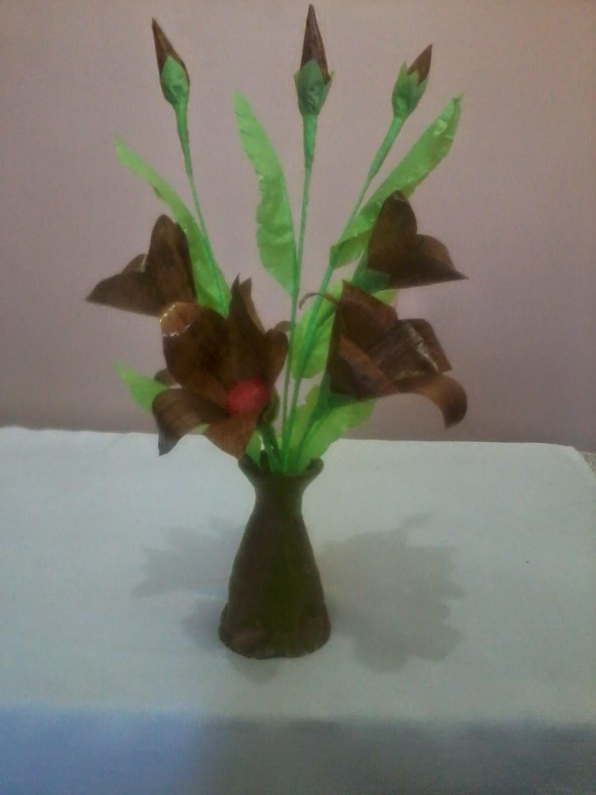 Kerajinan Bunga Dari Pelepah Pisang : kerajinan, bunga, pelepah, pisang, Wulandari:, Olahan, Pisang, Kering, Plastik, Bekas