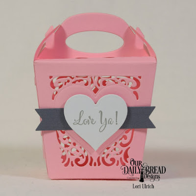 Our Daily Bread Designs Stamp Set: Let Love Grow, Custom Dies: Layering Hearts, Pennant Flags, Glorious Gable Box, Heavenly Hearts