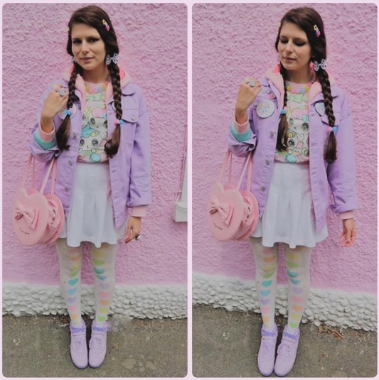 Instagram @xmypasteluniverse kawaii pastel outfit