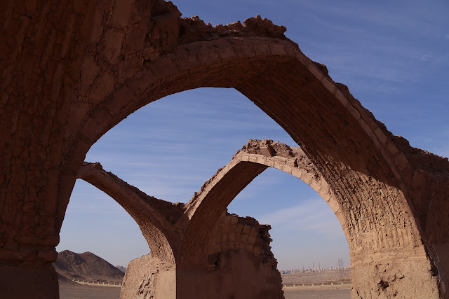 The old arcs in Yazd, Iran.