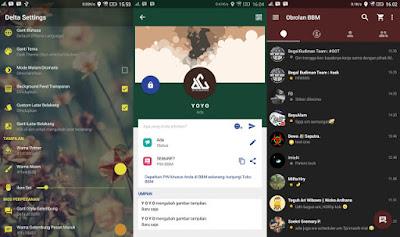 Aplikasi BBM Mod Android Delta v 2.12.0.11 Release Terbaru Changelog v3.2.1