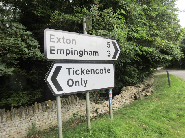 Tickencote road sign