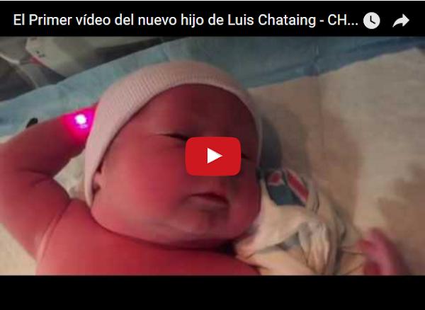 Luis Chataing es padre por segunda vez