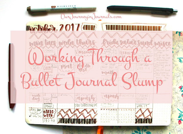 Working Through a Bullet Journal Slump // Our Journey in Journals