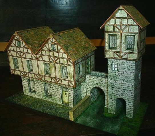 Papermau European Tower Bridge Paper Model By