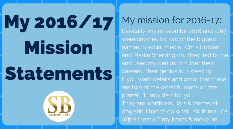 Mission Statement fos Stan Bush 2016-2017