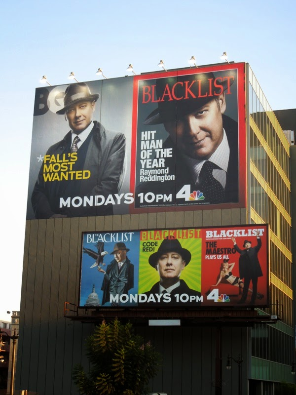 Blacklist season 2 magazine cover homage billboards